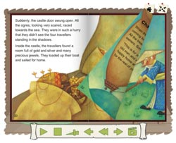 Sample page from the Traditional Tales Online book 'The Little Peach Boy'